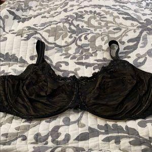 Chantelle 42 DDD black lace bra